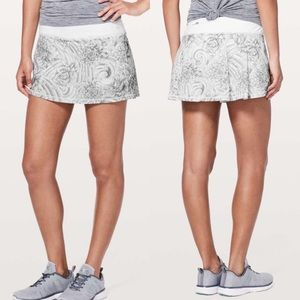 Lululemon Pace Rival Skirt Mini Twine White Size 8